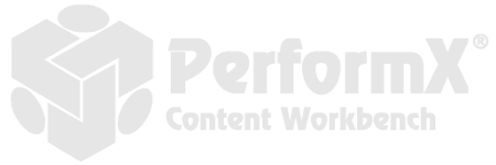 PerformX content workbench logo.