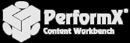 PerformX content workbench logo.
